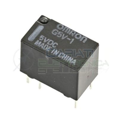 Relè singolo scambio OMRON G5V-1 5VDC bobina 5V 1A SPDT 6pin Omron 1,49€