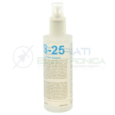 SPRAY SCREEN CLEANER DETERGENTE PULISCI SCHERMI 200 ML S-25 S25 DUE-CI Due-Ci