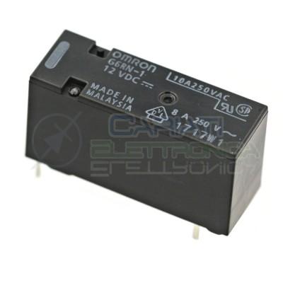 Relè singolo 1 scambio Omron G6RN-1 12 VDC 12V DC 8A 250V SPDT Omron
