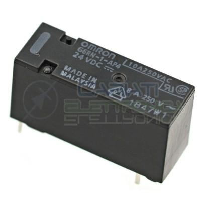 Relè singolo 1 scambio Omron G6RN-1-AP-4 24 VDC 24V DC 8A 250V SPDT Omron 2,39€