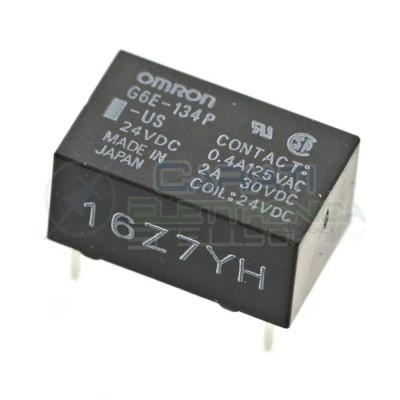 Relè singolo 1 scambio Omron G6E-134P-US 24vDC 24V DC 2A 30V 0.4A 125V SPDT Omron 3,49€