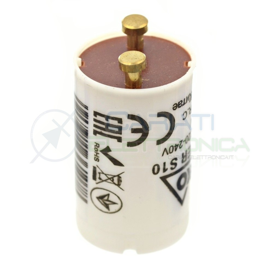 2 PEZZI STARTER ELETTRICO 4W-80W PER NEON T8 LAMPADE LUCI PLAFONIERE 230Vac
