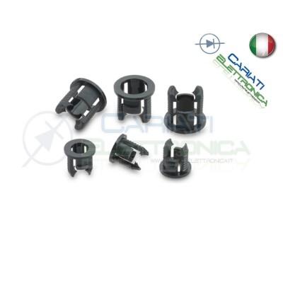 10 PEZZI SUPPORTO PORTA LED 5MM IN ABS PLASTICA NERA  1,50€