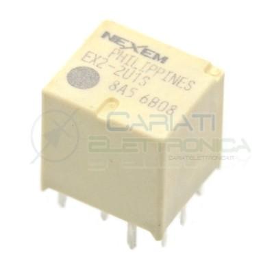 Doppio Relè elettromagnetico 2x SPDT bobina 12V 30A 10 pin EX2-2U1S NEC NEXEM