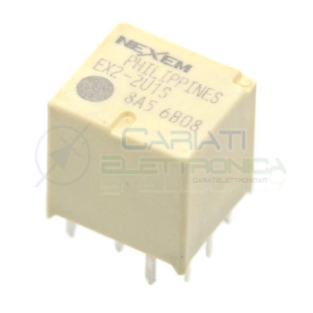 Doppio Relè elettromagnetico 2x SPDT bobina 12V 30A 10 pin EX2-2U1S NEC NEXEM  1,99€
