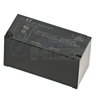 Relè singolo scambio Fujitsu FTR-K1AK012T bobina 12V SPST CONTATTI 16A 250Vac 24Vdc Fujitsu 2,49€
