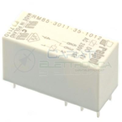 Relè singolo scambio RELPOL RM85-3011-35-1012 bobina 12V SPST 16A 250Vac 24Vdc Relpol