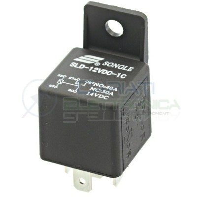 Relè Relay 12v 30A 40A Songle SLD-12VDC-1C 5 pin Auto Camper Universale Songle