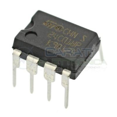 2 PEZZI Memoria seriale ST 24C01 EEPROM I2C DIP8ST MICROELECTRONICS