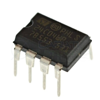 2 PEZZI Memoria seriale ST 24C04 EEPROM seriale 512 byte I2C DIP8 ST MICROELECTRONICS