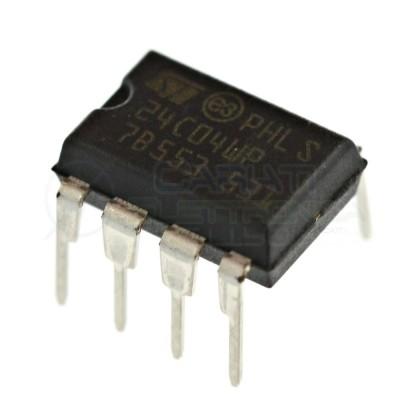 2 PEZZI Memoria seriale ST 24C04 EEPROM seriale 512 byte I2C DIP8ST MICROELECTRONICS