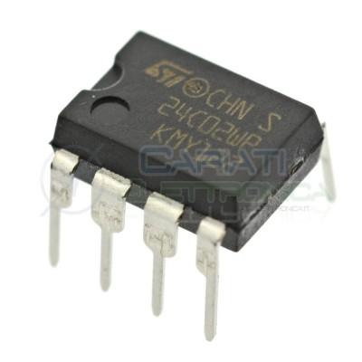 2 PEZZI Memoria ST M24C02 EEPROM seriale 24C02 256 byte 256x8 bit I2C DIP8 ST MICROELECTRONICS SGS-THOMSON 0,60 €