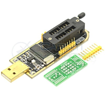 Programmatore eeprom eprom CH341A Serie 24 25 ash BIOS USB Generico