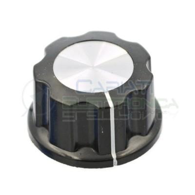 Manopola con asse 6mm 27x15mm Pomello Knob Knobs Fender Potenziometro Audio Cariati Elettronica