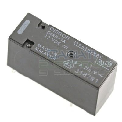 Relè singolo 1 scambio Omron G6RN-1A 12 VDC 12V DC 8A 250V SPST Omron 1,79€