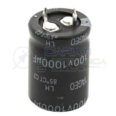 Condensatore elettrolitico YAGEO SNAP IN 1000uF 100V 85°C 30X22mm Yageo 1,39€