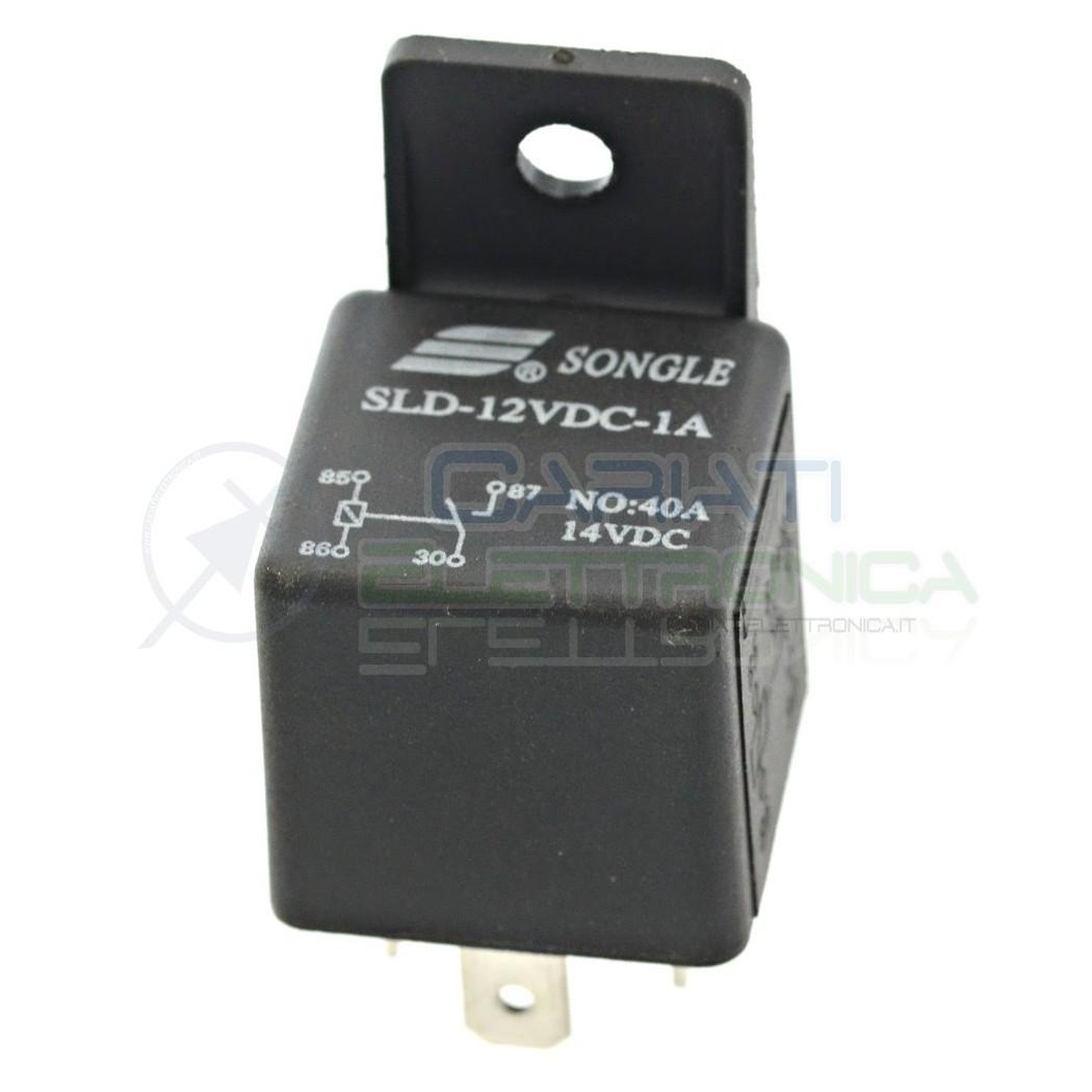 Relè Relay Auto Camper Universale 4 Contatti 12v 30A 40A SLD-12VDC-1A Songle