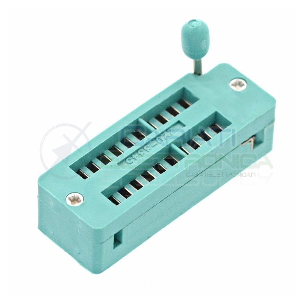 Adattatore Zoccolo ZIF 20 pin per circuiti integrati DIL DIP
