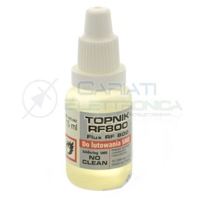 Flussante Liquido per saldature SMD no Clean 15ml RF800 riparazione pcbAgThermopasty