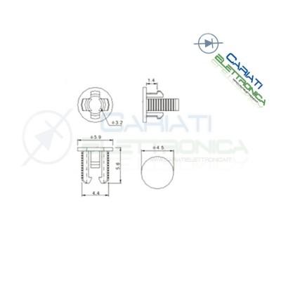 10 PEZZI SUPPORTO PORTA LED 3MM IN ABS PLASTICA NERA  1,80€