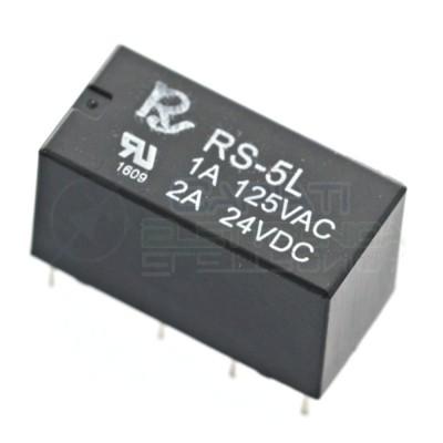 Relè 2 scambi RS-5-L RS5L RS-5L con bobina 5Vdc 5V DC 1A 125Vac DPDT