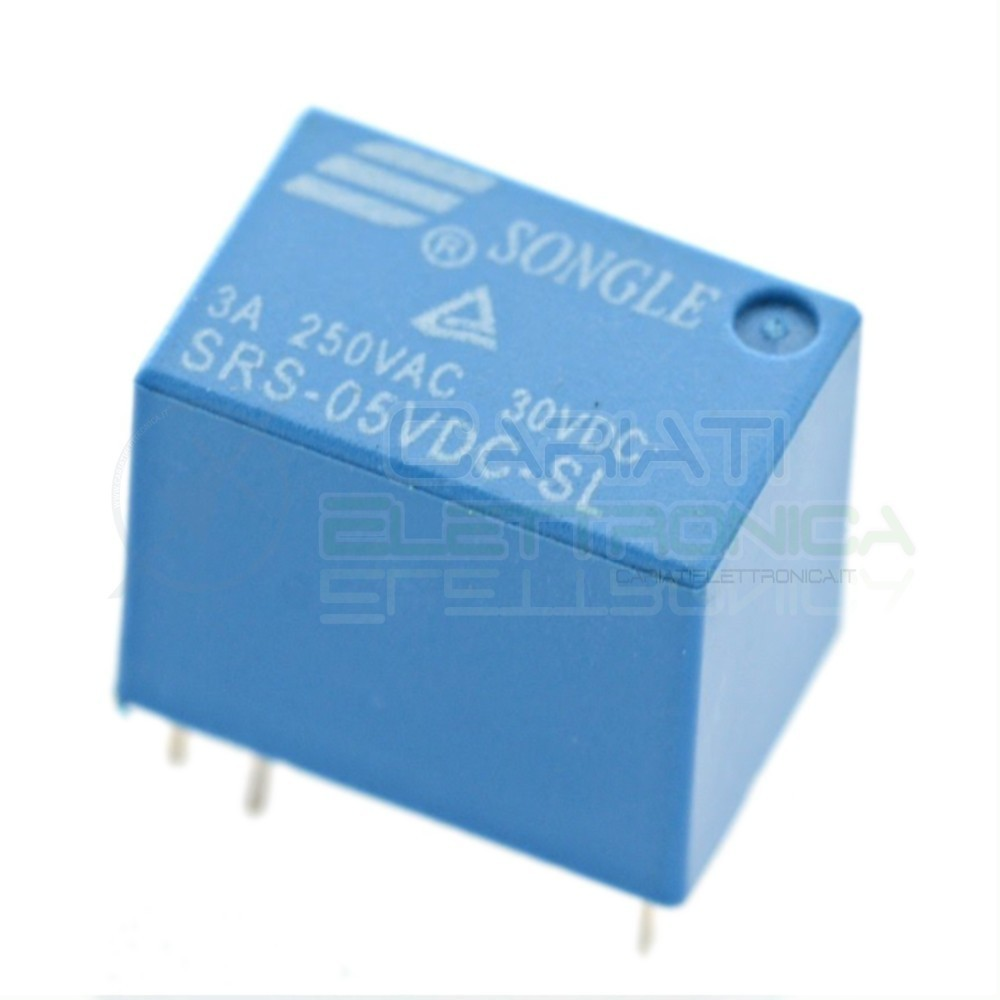 SRS-5VDC-SL Relay Relè 5V Dc 3A SRS-5VDC-SL Circuito Stampato Pcb 1 Scambio SRS  1,00 €