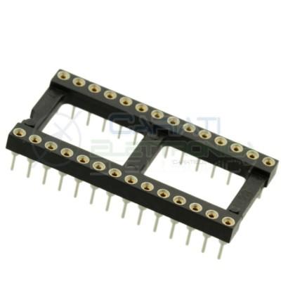 Zoccolo adattatore innesto tornito DIL DIP 28 pin THT passo 2,54mm  1,00€