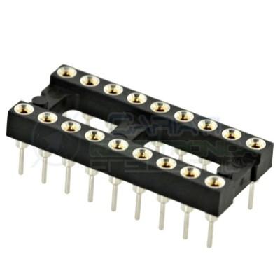 2 PEZZI Zoccolo adattatore tornito per circuito inegrato IC DIL DIP 18 pin THT passo 2,54mm  1,00€