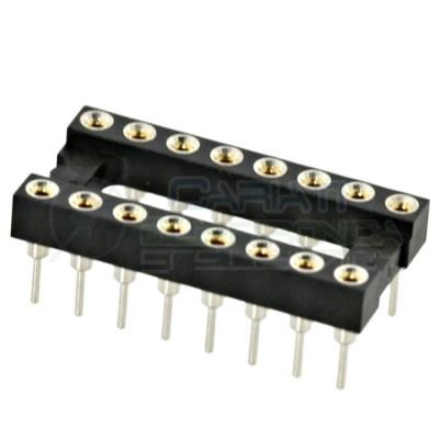 2 PEZZI Zoccolo adattatore tornito per circuito inegrato IC DIL DIP 16 pin THT passo 2,54mm  1,00€