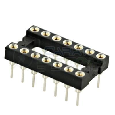 2 PEZZI Zoccolo adattatore tornito per circuito inegrato IC DIL DIP 14 pin THT passo 2,54mm  1,00€