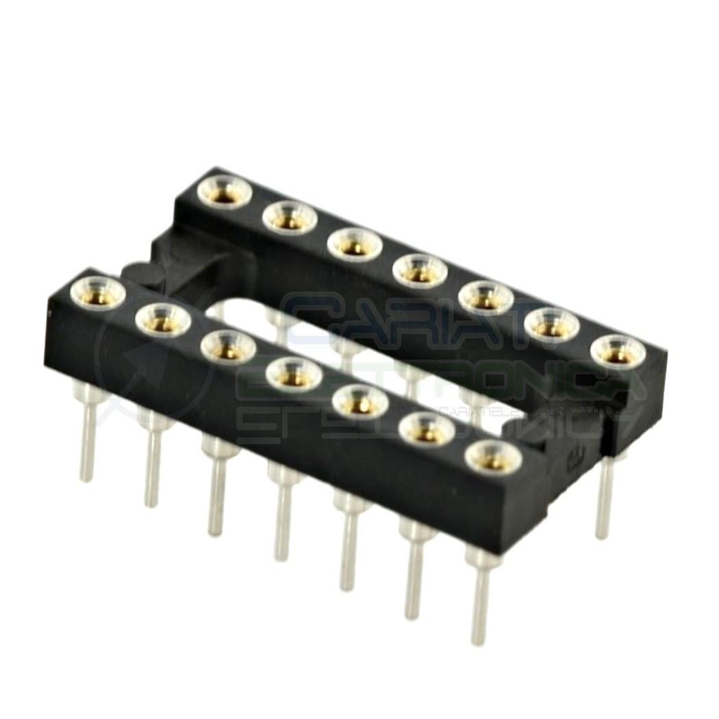 2 PEZZI Zoccolo adattatore tornito per circuito inegrato IC DIL DIP 14 pin THT passo 2,54mm 1,00 €