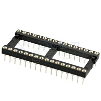 Zoccolo adattatore tornito per circuito inegrato IC DIL DIP 32 pin THT passo 2,54mm  1,00€