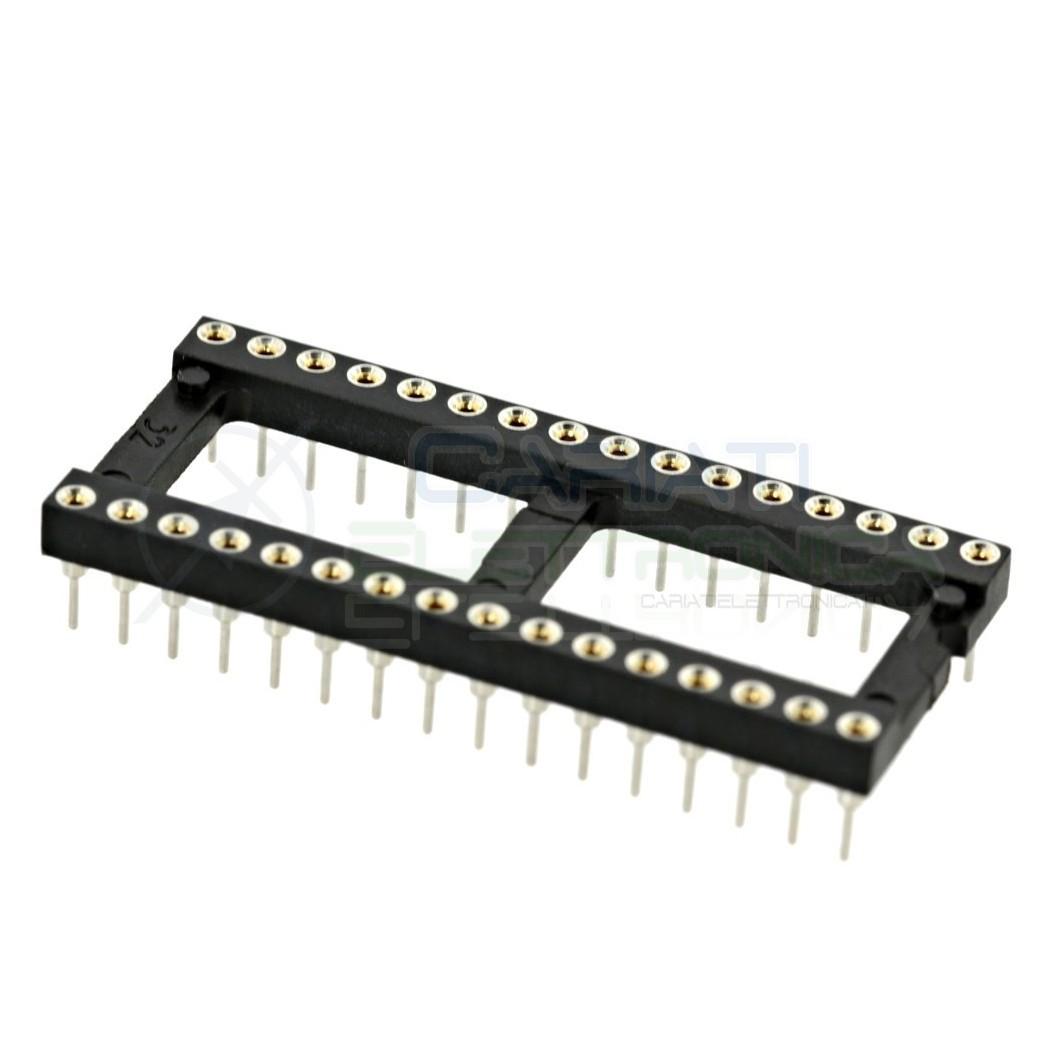 Zoccolo adattatore tornito per circuito inegrato IC DIL DIP 32 pin THT passo 2,54mm 1,00 €