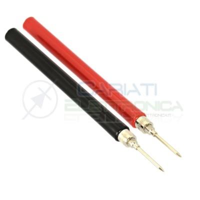 Coppia Puntali Rosso Nero per Tester Multimetro
