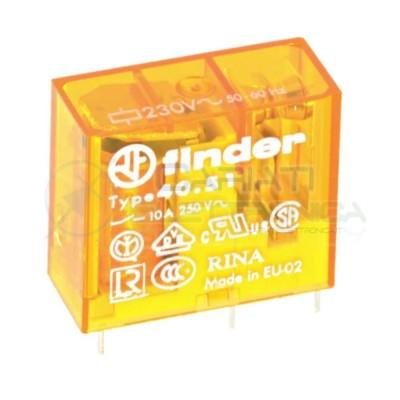 Relè FINDER 40.51.8.230.0000 con bobina da 230Vac 10A 30Vdc 10A 250Vac SPDT  8,90€