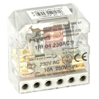 Rele impulsi elettromeccanico 2 contatti 230V ca 10A Perry 1RI04230AC/I