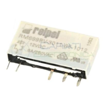 Relè singolo scambio RELPOL RM699BV-3011-85-1012 bobina 12V SPDT 6A 250Vac 24Vdc Relpol