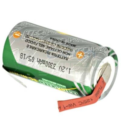 BATTERIA RICARICABILE NI-CD 1,2V 3300mAh SC con terminali a saldare Extracell 4,39 €