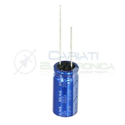 5 PEZZI Condensatore elettrolitico ELNA 10uF 350V 85°C 10X20mm Elna 1,29€