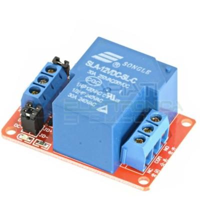 Scheda modulo 12V 1 relè canale 240Vac 30A SLA-12VDC-SL-C