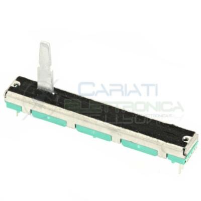 Potenziometro slider stereo a slitta lineare 60mm 10kohm 10k B103 Mixer Audio 2,29 €