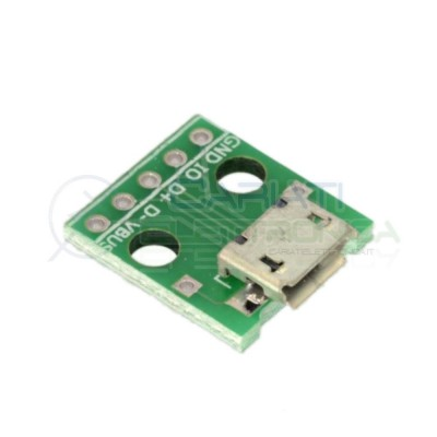 2 PEZZI Scheda adattatore pcb MICRO USB Femmina a DIP