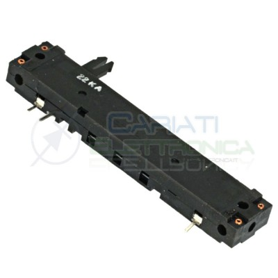 Potenziometro a slitta 22k lineare mono 88mm 22kohm 22KA slide Cosocomi