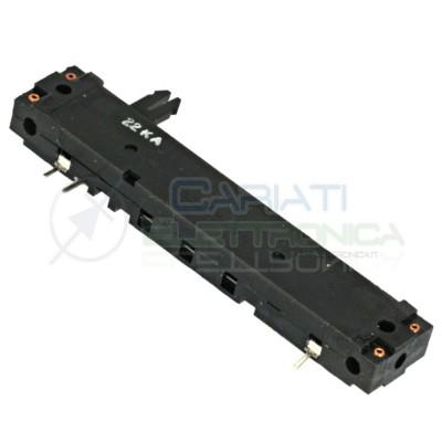 Potenziometro slider a slitta lineare mono 88mm 22kohm 22k 22KA 2,99 €