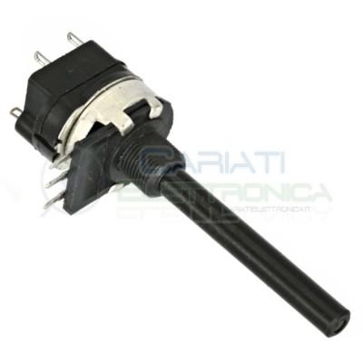 Potenziometro rotativo lineare mono 22Kohm 22Kohm con interruttore asta L 42mm D 6mm