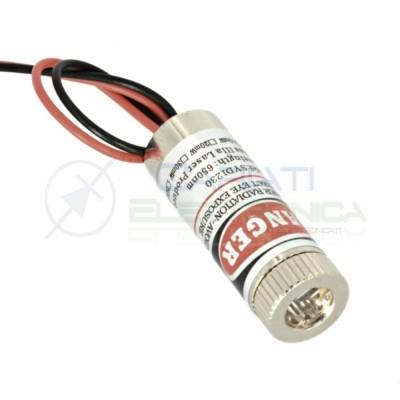 MODULO LASER 650nm ROSSO diodo puntatore diode pointer A CROCE 3v 5v DC