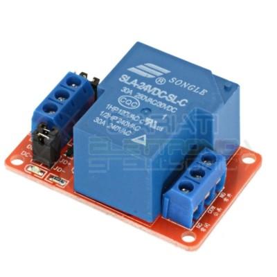 Scheda modulo 24V 1 relè canale 240Vac 30A SLA-24VDC-SL-C Songle