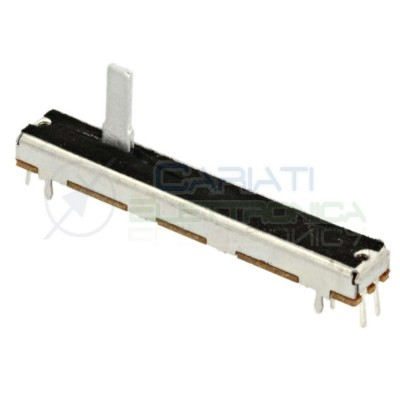 Potenziometro slider a slitta lineare stereo 60mm 50kohm 50k B50K X 2 6 PIN 2,69 €