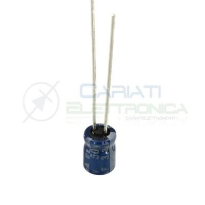 10 PEZZI Condensatore elettrolitico ELNA 3,3uF 50V 85°C 4X5mm PASSO 2,54mm Elna 1,09€