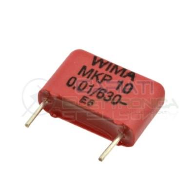 2 PEZZI Condensatore in poliestere WIMA 10nF 630V Passo 10mm 10% MKP10